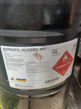 Photo 55 Gallon Drum Ispropyl Alcohol - $600