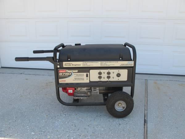Photo Coleman Powermate 8750 Generator - $600 (Harvey)