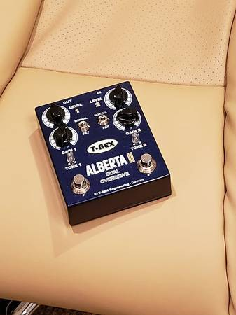 Photo T-Rex Engineering Alberta II Dual Overdrive Guitar Effects Pedal - $130 (Westbank-Harvey-StoneBridge SubDiv.)