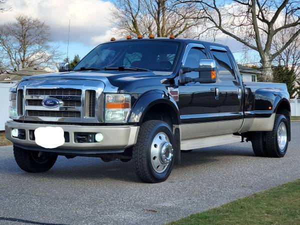 Photo 2008 Ford F450 Diesel 4X4 King Ranch Quad Captain Seat Loaded Up - $21500 (Deer park)