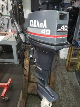 Photo 40 hp Yamaha Outboard motor engine tiller pull start - $2100 (I will ship worldwide)