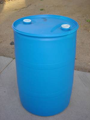 Photo 55-gallon drums. Blue plastic FOOD GRADE - $25 (Yonkers)