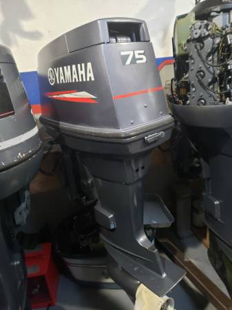 Photo 75 hp Yamaha Outboard motor engine - $2350 (I will ship worldwide)