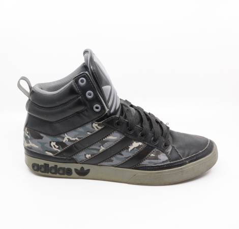 Photo ADIDAS Camo Top Court Hi with Big Stripes, Men39s Size 12 - $50 (Bed-Stuy)