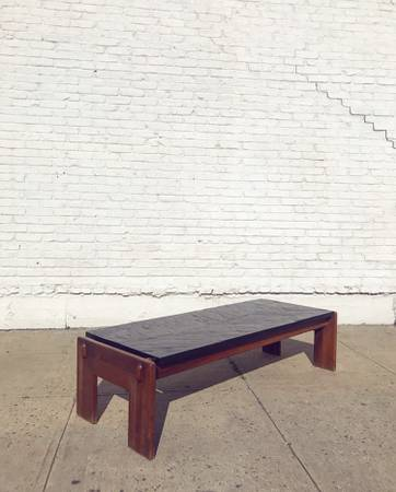 Photo Authentic 1960s Mid Century Adrian Pearsall Slate Coffee Table - $1100 (Greenpoint)