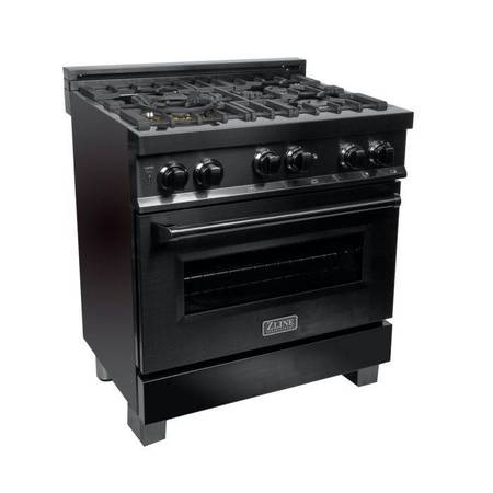 Photo BRAND NEW  Z-LINE 30quot PROFESSIONAL GAS RANGE BLACK STAINLESS STEEL - $2,599 (SMART BUY -  HOLIDAY SALE - $400 INSTANT REBATE)