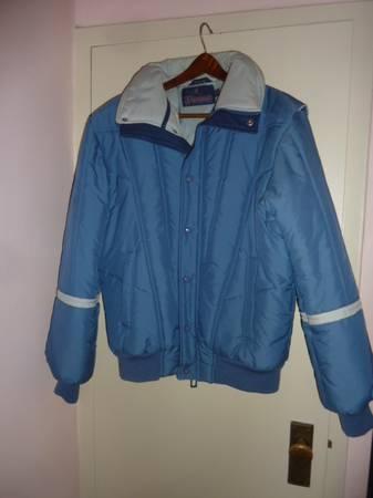 Photo Blue puffer jacket (medium)  2 pr American Eagle jeggings $10 ea - $10 (East Village)