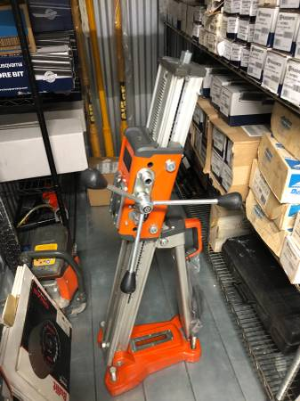 Photo Core drill stand. Husqvarna DS 450 used lightly - $825 (Ossining)