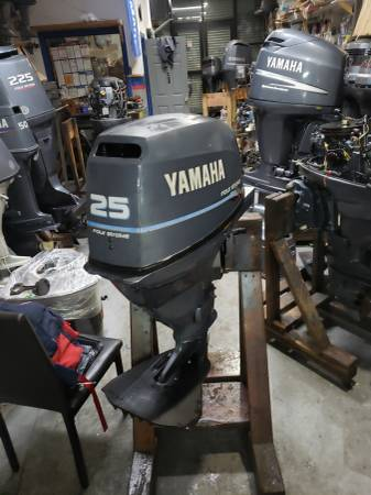 Photo F25 hp Yamaha Outboard motor engine electric start short shaft - $1500 (I will ship worldwide)