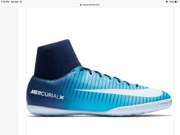 Photo NIKE MERCURIALX VICTORY VI DF IC INDOOR SOCCER SHOES - $50 (TriBeCa)