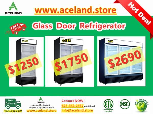 Photo NSF 123-door Commercial Glass Refrigerators  Freezer Restaurant Equ - $1,150 (Downtown)