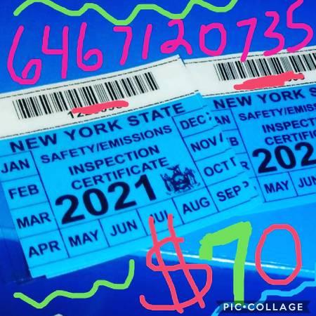 Photo Nys inspection sticker honda toyota acura nissan infiniti $60 - $60 (Queens ny near jfk)