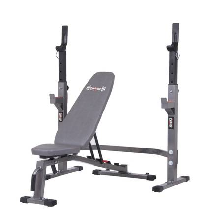 Photo Olympic Bench Press  Squat Rack  Adjustable Workout Bench Set - NEW - $379 (Roslyn)