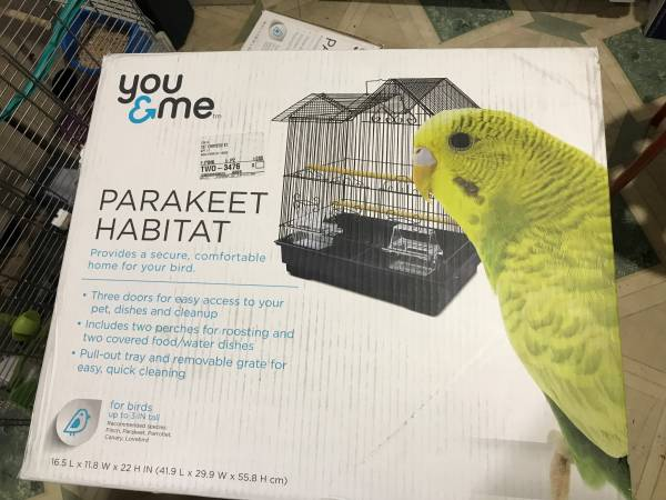 Photo PARAKEET FOR REHOME $85 3 birds and you and me bird cage - $75 (Chinatown  Lit Italy)