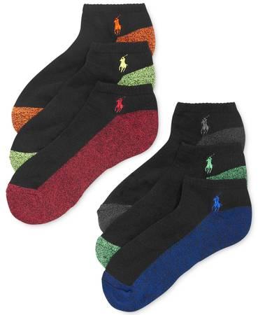 Photo Polo Ralph Lauren Men39s Athletic Celebrity Sport Socks 6 - Pack - $5 (Battery Park)