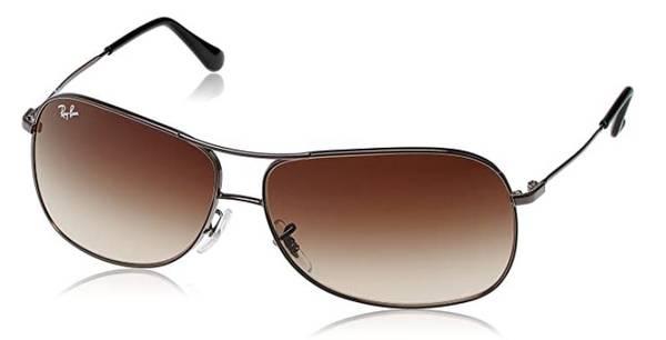 Photo Ray-Ban Aviator Sunglasses  Dark Chrome  Brown (Retail $145) - $75 (Midtown West)