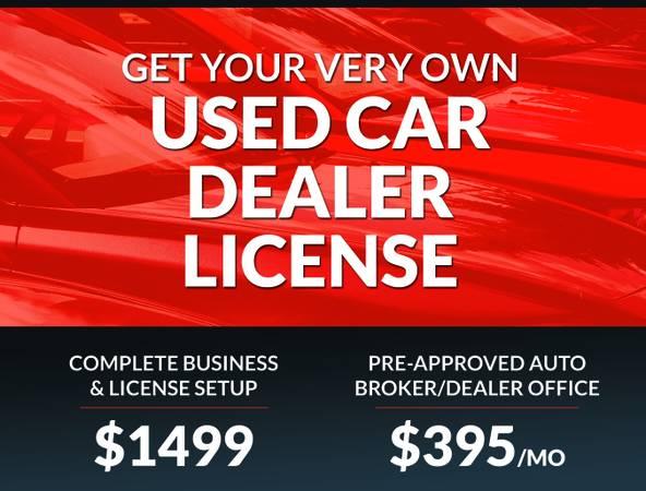Photo Turn-key RETAILWHOLESALE Used Car Dealers License w 3 Dealer Plates - $1,499 (COMPLETE BUSINESS SET-UP)