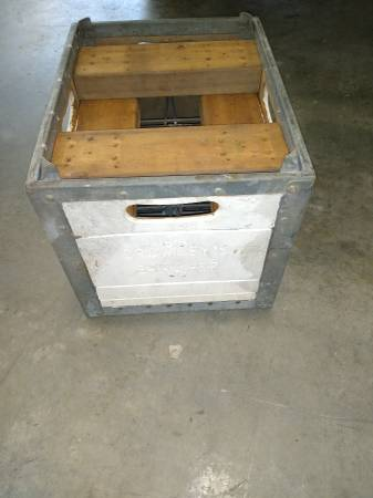 Photo Vintage Crowley39s 3-Inc. 1967 Wood and Steel Milk Crate - $30 (Stamford)