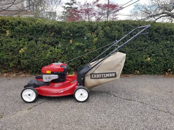 Photo lawn mower like new Craftsman 6.25HP FWD self propel with bag - $225 (Oceanside, NY)