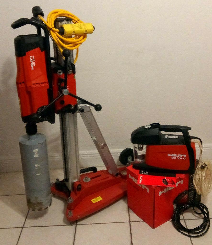 Photo HIlti DD-250 diamond core drill with Vacuum ant Bit.