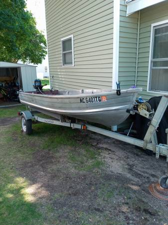Photo 12ft rowboat with 4.5 hp outboard - $1500 (Gaylord)