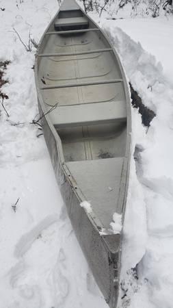Photo 17 ft Aluminum Canoe - $250 (Hillman)