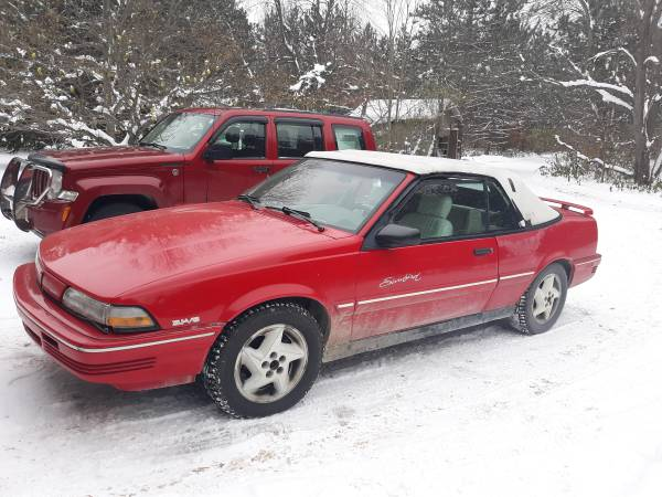 Photo 1994 Pontiac Sunbird Convertible 3.1L V6 - $1500 (Grawn)