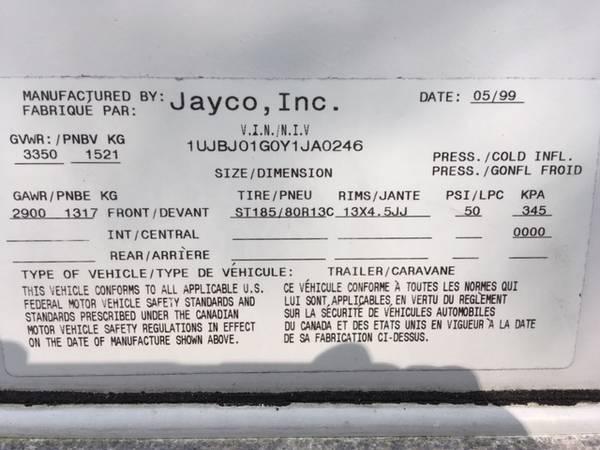Photo 2000 Jayco hybrid kiwi 17a - $3,900 (Alpena)
