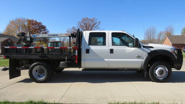 Photo 2011 Ford F450 Super Duty 6.7L Diesel 4x4 Flatbed 48K Miles Rust Free - $39,900 (Clinton Township)