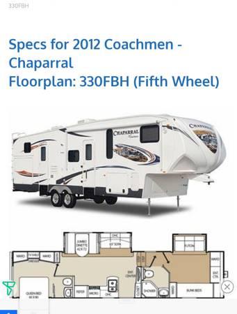 Photo 2012 coachmen chaparral - $28,500 (West Branch)