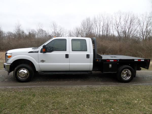 Photo 2015 FORD F350 POWERSTROKE FLATBED DUALLY CREW CAB 4X4 SOUTHERN - $25900 (PETERSBURG MI)