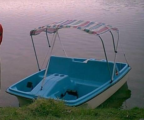 Photo 5-person Paddle Pedal Boat w sun canopy - $380 (Oscoda, MI)