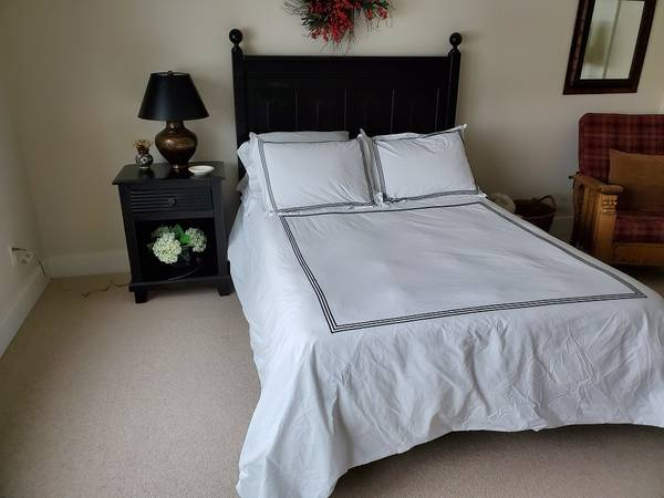 Photo Bed Headboard  Frame - Pier One - $200 (Suttons Bay)