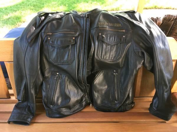 Photo Mens XXL Harley Davidson Leather Jacket - $350