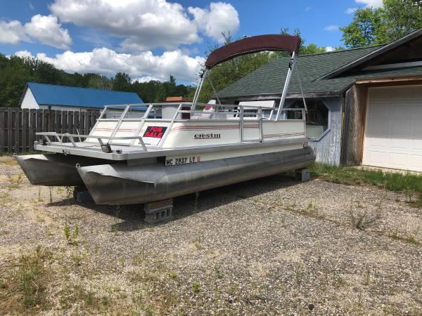 Photo Pontoon Boat for sale - $2,000 (Houghton Lake)