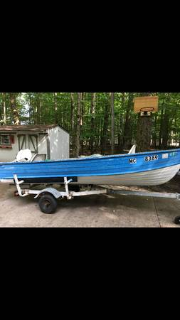 Photo STARCRAFT ALUMINUM BOAT MOTOR AND TRAILER - $2,000 (GAYLORD,MI)