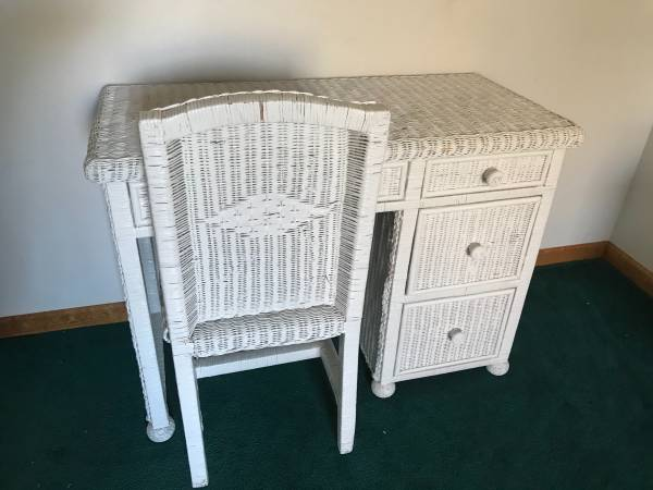 Photo White Wicker Dressers - $100 (Hessel, MI)