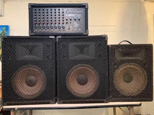 Photo Yorkville MP8DX powered Mixer and speakers - $150 (Traverse City)