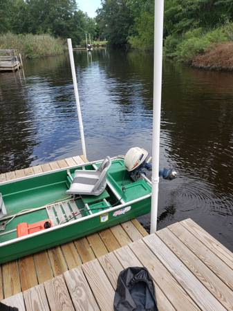 Photo 11 ft jon boat with 4hp motor - $1,100 (CHESAPEAKE)