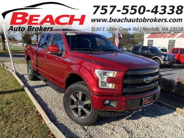 Photo 2016 Ford F-150 LARIAT SUPERCREW 4X4, WARRANTY, LEATHER, NAV, HEA (_Ford_ _F-150_ _Truck_)