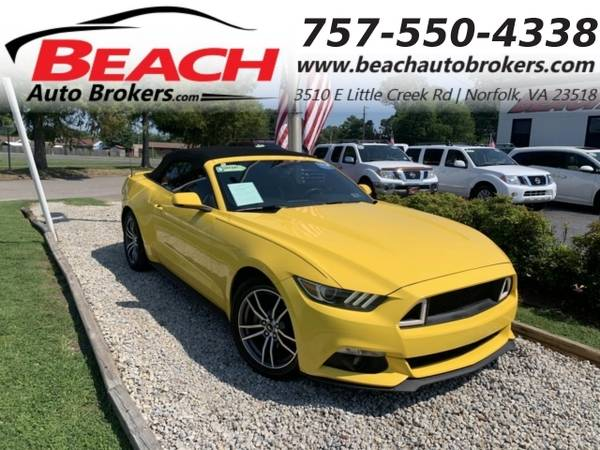 Photo 2016 Ford Mustang ECOBOOST PREMIUM, WARRANTY, CONVERTIBLE, LEATHER, (_Ford_ _Mustang_ _Convertible_)