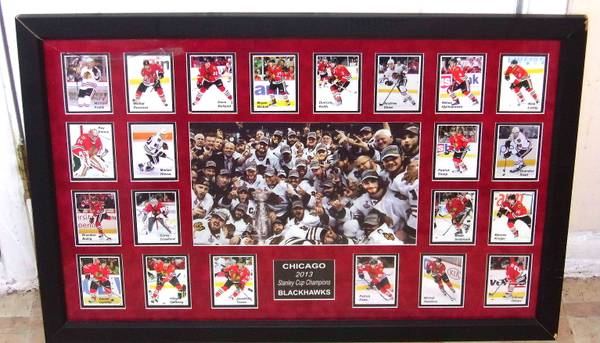 Photo Chicago Blackhawks Stanley Cup Chions Large Framed Team Poster - $35 (Newport News)