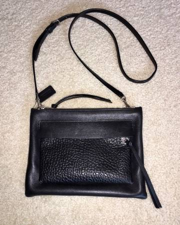 Photo Coach Black Leather Crossbody Bag - $40 (Virginia Beach)