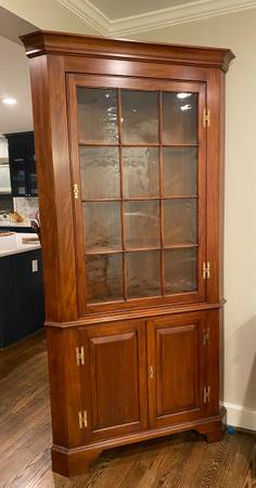Photo Henkel Harris Wild Black Cherry Corner Cabinet - $600 (Virginia Beach)