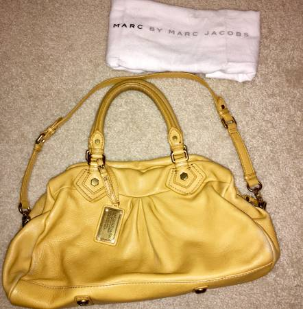 Photo Marc Jacobs Mustard Yellow Pebbled Leather Satchel - $20 (Virginia Beach)