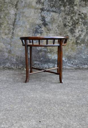 Photo Mid Century Henredon Round Plant Stand with Copper tray - $100 (Hton)