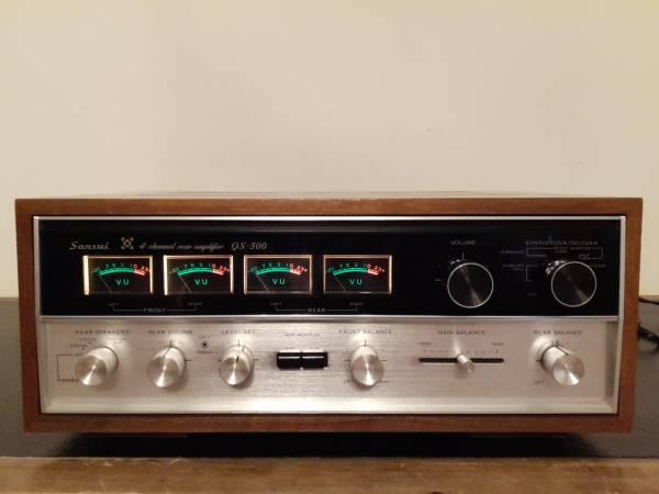 Photo SANSUI QS-500 4-Channel Rear Amplifier SANSUI SP-30 Speakers (2-Pair) - $325 (Yorktown)