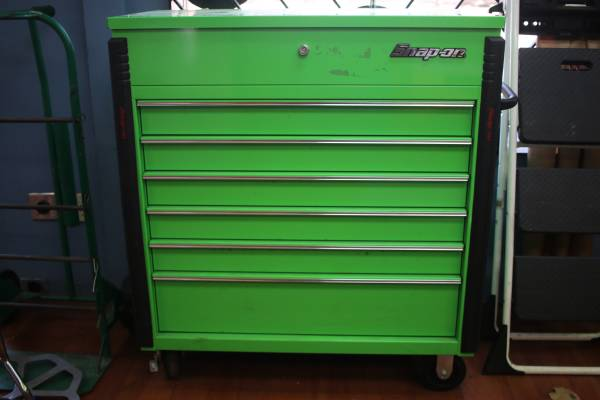 Photo Snap On Tools KRSC46HPJJ 40quot Six-Drawer Roll Cart (Extreme Green) - $1,195 (Newport News)