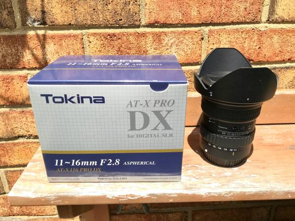 Photo Tokina 11-16mm f2.8 ultra wide angle lens (Canon mount) used - $250 (Virginia Beach)