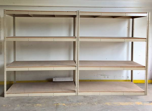 Photo USED Wide Span Shelving For Sale (GOOD PRICE, GREAT CONDITION) (Hton Roads)